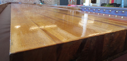 Shuffleboard End Surface